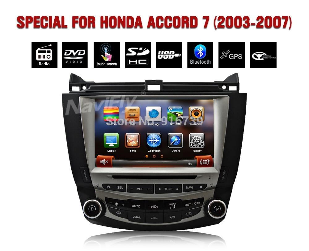 "free map+8"" Car DVD GPS Headunit For ACCORD 7 2003 2004 2005 2006 2007 Dual zone Climate Control Radio Bluetooth iPod USB SD(China (Mainland))"