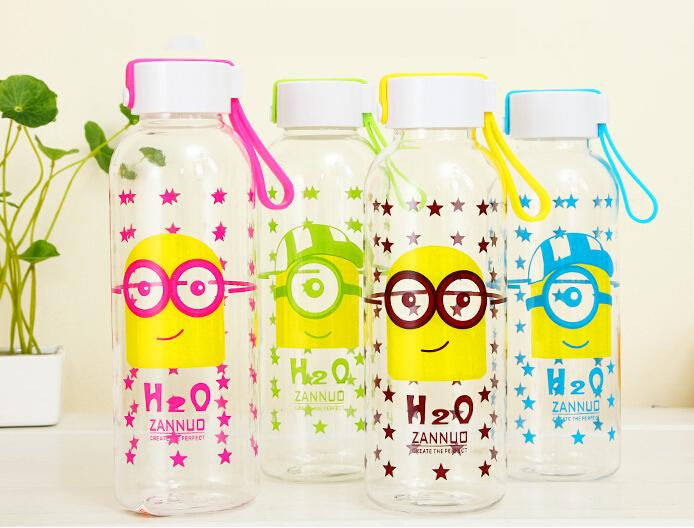 2015 Hot Minions Cartoon Water Bottle; Mini, VERY CUTE!!(China (Mainland))