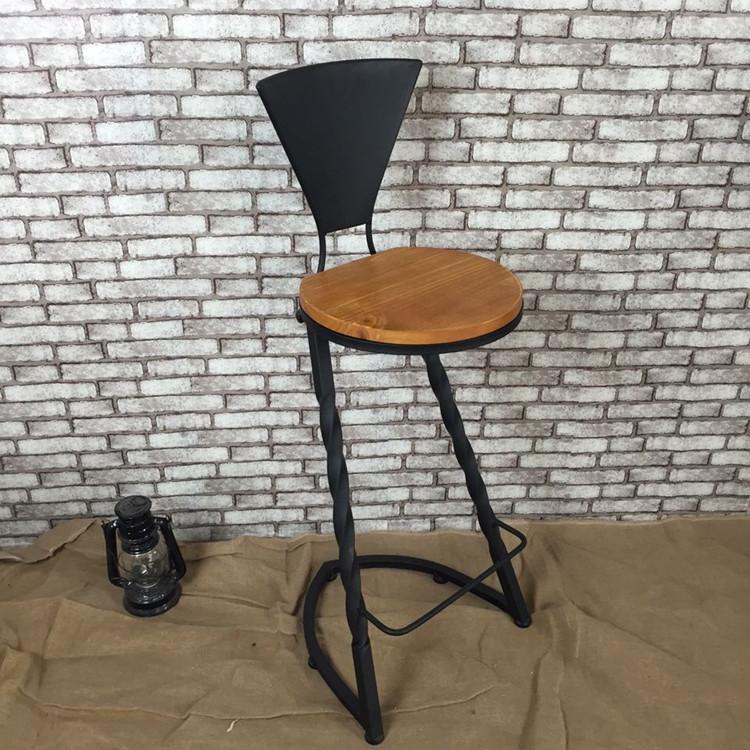 Madeira grátis frete forjado ferro forjado barra de ferro preside a American Bar cadeira para fazer o velho retro cadeiras de Bar atacado personalizado(China (Mainland))