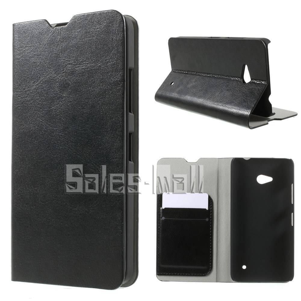 For Microsoft Lumia 640 Card Holder Leather Case for Microsoft Lumia 640 Dual Sim / 640 LTE Crazy Horse(China (Mainland))
