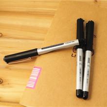 Школа офис аксессуары жидкость чернила гель ручки ролик кончик ручка черный чернила 0,5 мм точка эскиз ручка