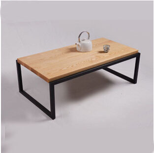 Europe and the United States is now the living room coffee table, wood, wrought iron furniture made of solid wood side a few old(China (Mainland))