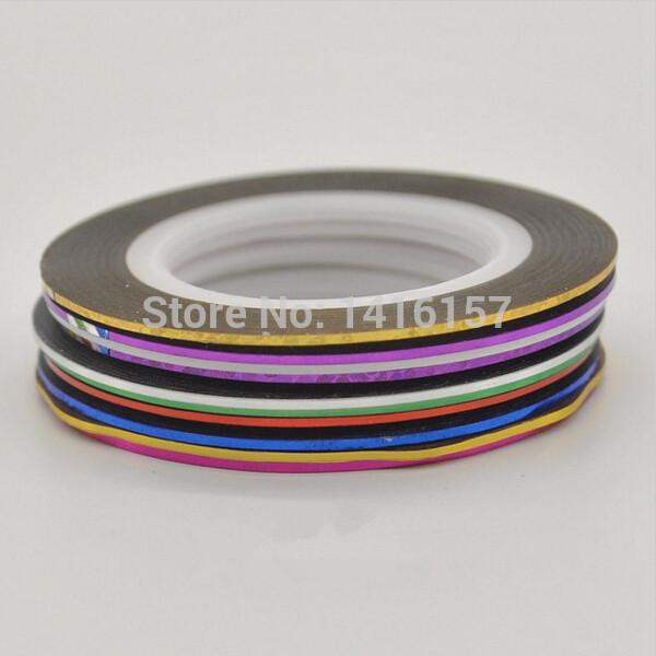 PCs Striping tape reels, line DIY tips Nail Art decoration sticker, Nail Art accessories treatment,Color sent at random,1 piece(China (Mainland))