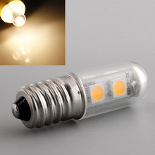 E14 7LED Bright 5050SMD 1W/220V Saving Candle Light Fridge Bed Corn Bulb Efficient Durable Warm White