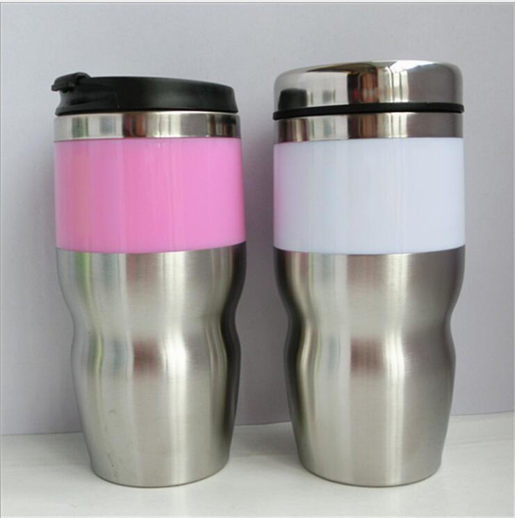 Stainless Steel Travel Mug,stainless steel thermal mug,thermal car mug,plastic insulated cofee cup auto mugs(China (Mainland))