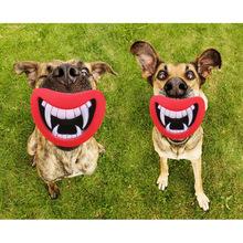 New durevole sicuro divertente squeak dog toys del diavolo lip suono cane che gioca/chewing cucciolo rendere il cane felice  (China (Mainland))