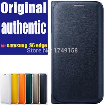 Горячая люкс флип смарт-чехол сна кожаный чехол для Samsung S6 край оригинальный чехол для Samsung Galaxy S6 край G9250