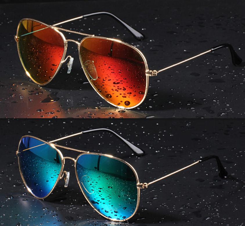 16 Colors Summer Fashion RB Sunglass Men New Mirror Aviator 3025 Sunglasses Women Brand Designer Sun Glasses Oculos de sol(China (Mainland))