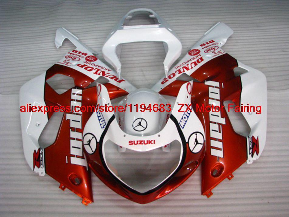 01 02 03 K1 for Suzuki GSXR750 Fairing Kits 01 03 Orange Gold White NB-A INJECTION Motorcycle Fairing GSX R600 2001(China (Mainland))