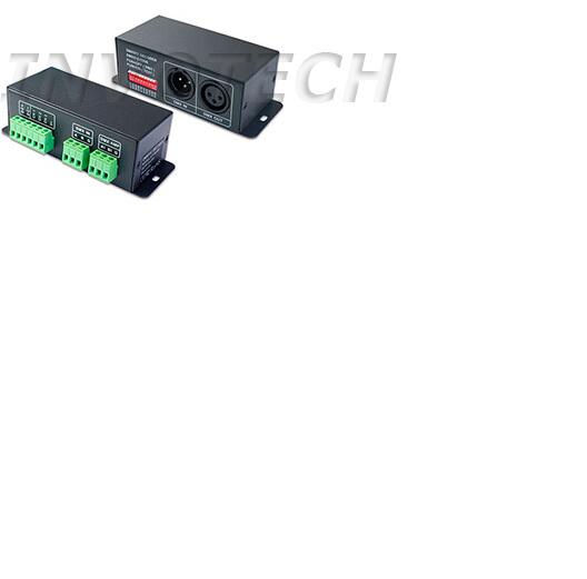 DMX to SPI Controller Signal Decoder For LPD8806 WS2801 Pixel LED Strip DC5V 24V(China (Mainland))
