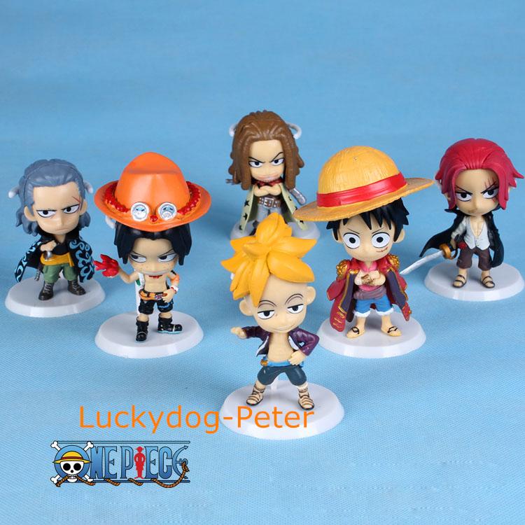 Free Shipping One Piece 71 Edition Action Figure Luffy Zoro Franky Brook Sanji Usopp Dolls PVC ACGN figure Garage Kit Anime 60MM(China (Mainland))