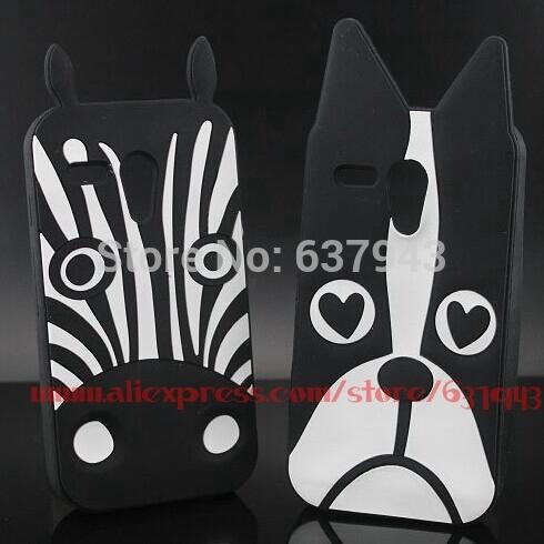 For Motorola Moto G Case Zebra Dog Character Soft Rubber Cell Phone Back Cases Cover For Moto G XT1028 XT1031 XT1032 XT1033(China (Mainland))