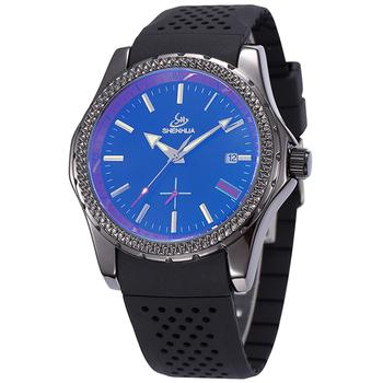 2 цвет SHENHUA марка свободного покроя мужской часы шарм мужская черный силиконовый автоматические механические мужчин спортивные наручные часы YKSH356-YKSH357