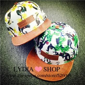 2015 New Trendy Accessories Character Gorras Print Monkey Rainforest For Unisex Hip Pop Hats Fashion Baseball Cap Snapback(China (Mainland))