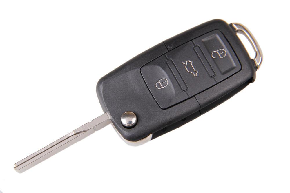 Cheap Folding Car Remote Flip Key Shell Case Fob opel mercedes For Volkswagen Vw Jetta Golf Passat Beetle Polo Bora 3 Buttons(China (Mainland))