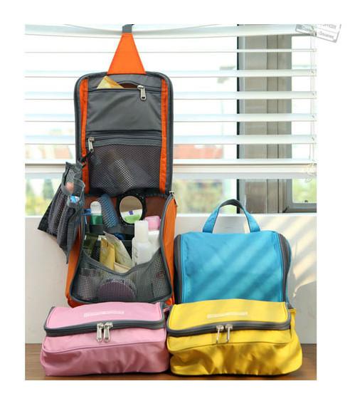 Fashion Colorful Multifunctional Travel Check Waterproof Wash Bag Travel Cosmetic Make Up Bag In Bag Storage Bag(China (Mainland))