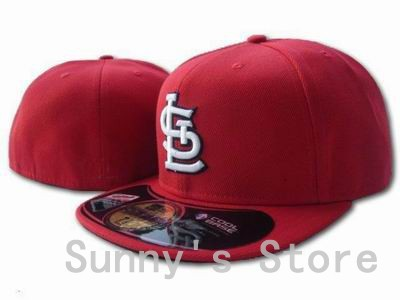 St. Louis Cardinals Fitted Hats In Full Red Color For Men Women STL Letter On Field Baseball Sports Caps Hip Hop Style Bones(China (Mainland))