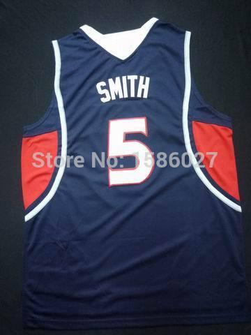 High Quality Atlanta Josh Smith #5 Rev 30 Embroidery Stitched Logo Retro Throwback Dark Basketball Sleeveless Jerseys(China (Mainland))