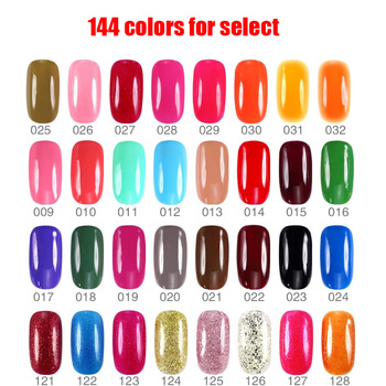 1 шт./лот 16 мл Ekbas уф польский длительный выдерживает с 144 цветов фототерапия маникюрные косметические сияющий красочный