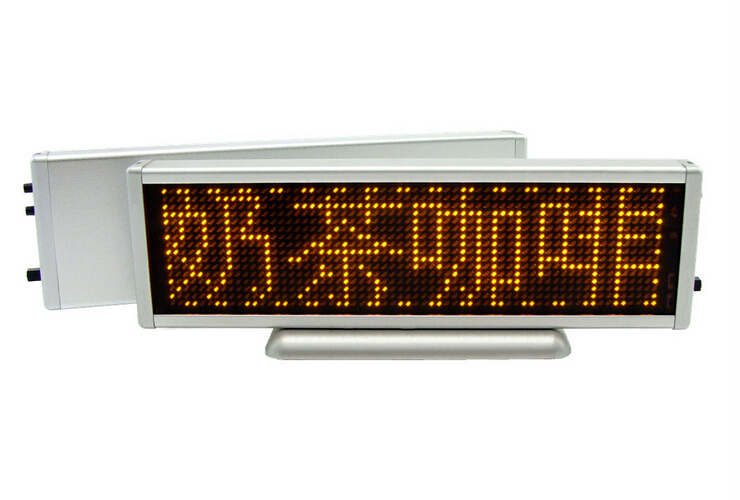 Pop! free shipping!Multi-languages USB Programmable scrolling screen LED name badge LED display(China (Mainland))