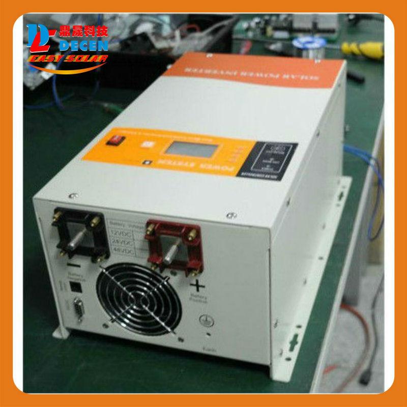 DECEN@48V 6000W Peak Power 120000W/18000VA  Power Solar Hybrid Inverter Built-in 60A MPPT Controller With Communication,LCD Show(China (Mainland))
