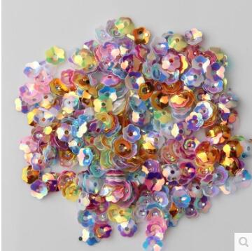 6mm three-dimensional torus sequins piece 10500PCS shinning sequins Clothes Sequins Mix Color Sequin Materials Z88(China (Mainland))