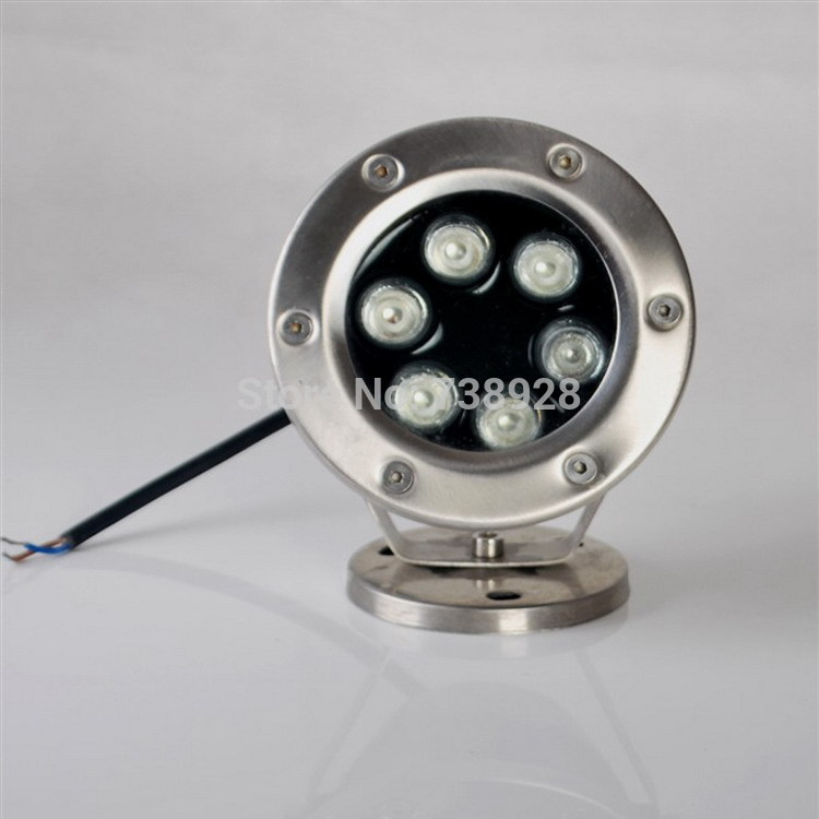Free Shipping Factory Direct Supply 6W warm/cold white Stainless Steel LED Swimming Pool Pond Lights AC12-24V IP68 CE FCC&ROHS(China (Mainland))