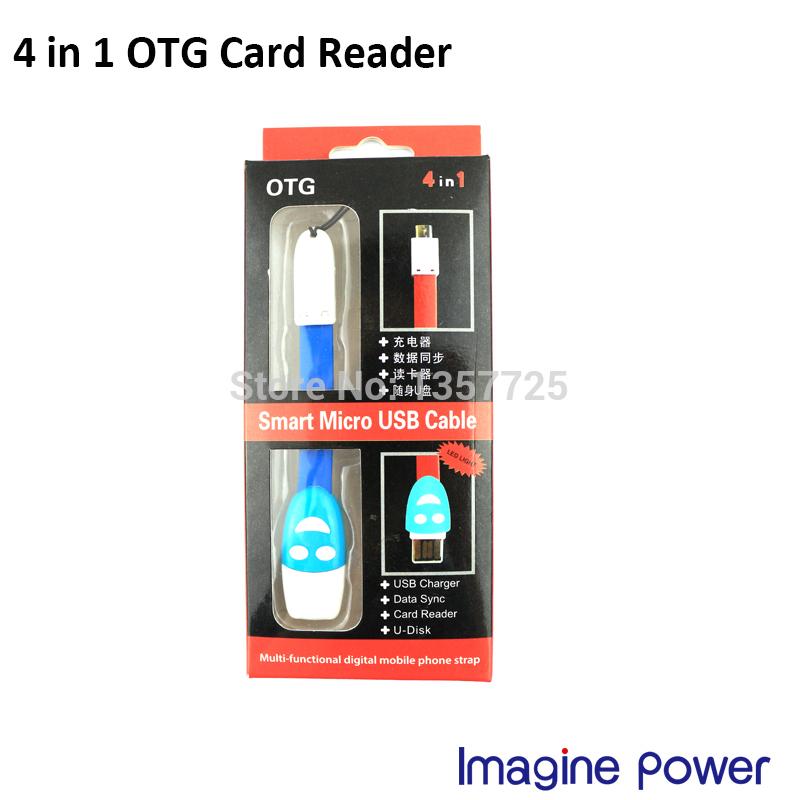 Multi-functional digital mobile phone strape micro usb charger+Data Sync+OTG card Reader+U-Disk(China (Mainland))