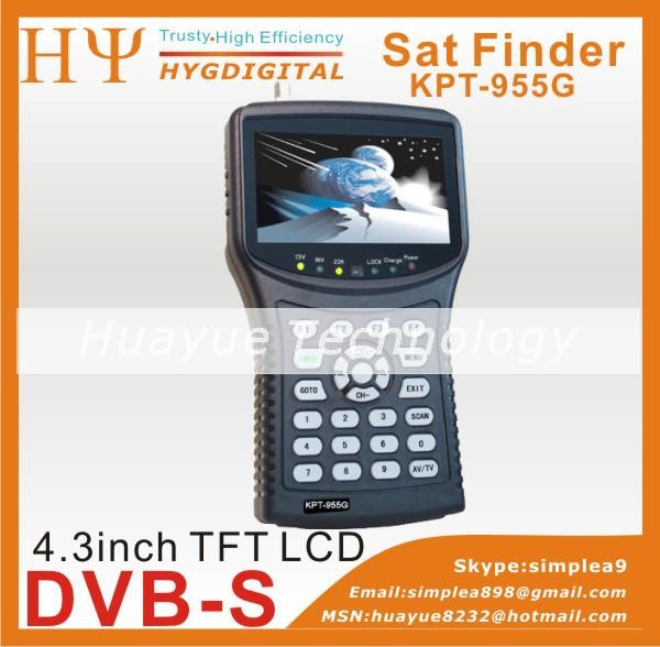 free shipping digital sat finder KPT-955G 4.3Inch TFT LED Handheld Multifunctional HD Satellite Finder&Monitor KPT-955H KPT-968G(China (Mainland))