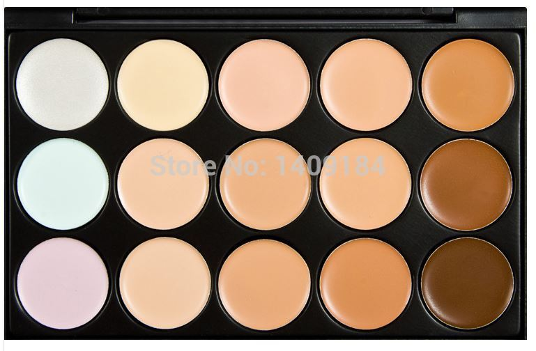 hot 15 colors Special Professional 15 Color Concealer Facial Face Cream Care Camouflage Makeup Palettes Cosmetic(China (Mainland))