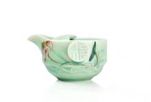 A pot a cup Kung fu tea set ceramic tea set travel easy 2pcs cup teapot