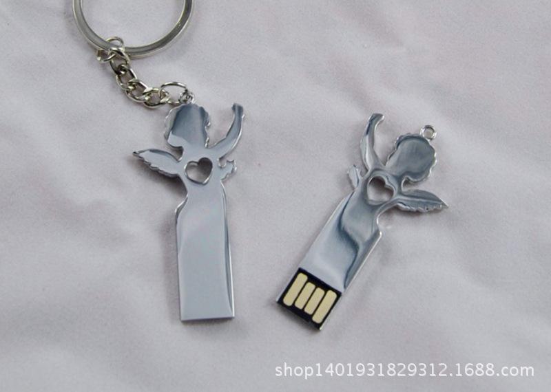 Factory wholesale Greek mythology Cupid Angel U disk metal U disk can laser laser LOGO(China (Mainland))