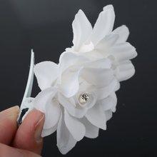 HOT Fashion Girl Women Crystal Bridal Wedding Prom Party Flower Clip Pin Hairpin Hair Barrettes Woman