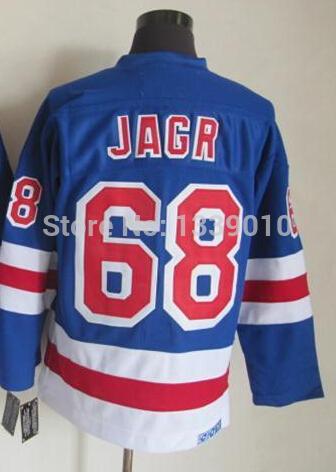 New York #68 Jaromir Jagr Jerseys Blue CCM Hockey Jersey for Men High Quality Sports Jerseys All Team Ice Hockey Uniforms(China (Mainland))