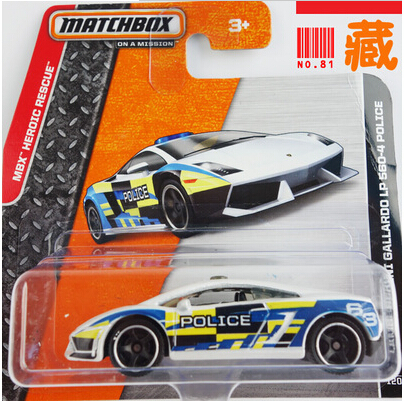 HSB-toys matchbox cars toys GALLARDO LP 560-4 POLICE 2014 MBX heroic-rescue new in box free shipping(China (Mainland))