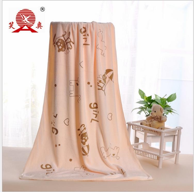 Polyester polyamide microfiber towel Polyester silk printing on the rabbit 70 * 140 quick dry towel bath towel(China (Mainland))