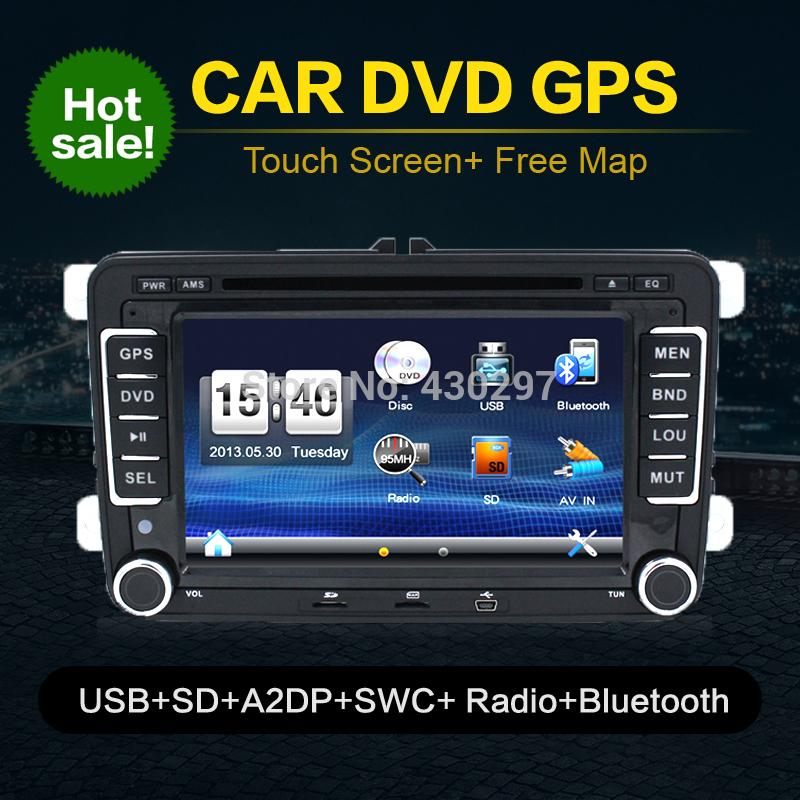 Bosion Hd DVD GPS 2 Din стерео 7 для VW Golf 5 6 поло-бора Jetta MK4 B6 Passat Tiguan Skoda Octavia Fabia BT IPOD FM RDS автомобильный dvd плеер joyous kd 7 800 480 2 din 4 4 gps navi toyota rav4 4 4 dvd dual core rds wifi 3g