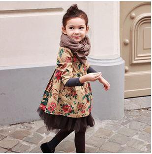 Пальто для девочек Meixin 205 Stylekids outerdoor & trench 1