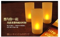 500pcs/lot Home Decoration Lamp Flameless Candle yellow sound toy led sound control red electronic candle light smokeless candle