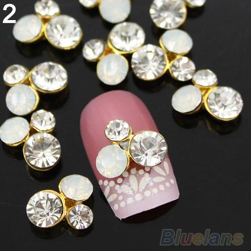 Стразы для ногтей Fashion 10Pcs/lot 3D DIY 10800 стразы для ногтей 10pcs 3d diy 2848