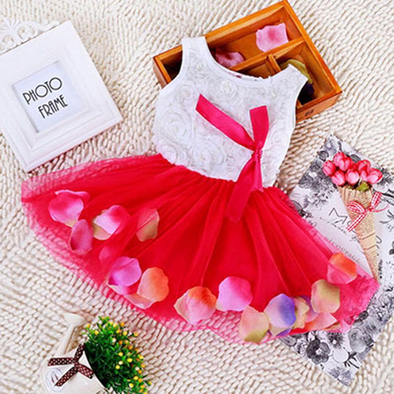 2015 Summer Baby Girl Pretty Dresses Tutu Children's Wear Clothing Dot Sleeveless Girls Dresses Cotton Birthday Clothes G111945(China (Mainland))