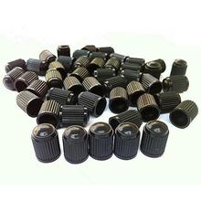 Hot Sale 4PCS Black Plastic Car Tyre Tube Cycles Valve Dust Cap