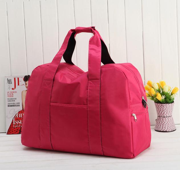 2015 New Brand Folding Waterproof Big Capacity Fitness Bag Tote Travel Duffle Bag Shoulder sports bag for Women, BG025(China (Mainland))