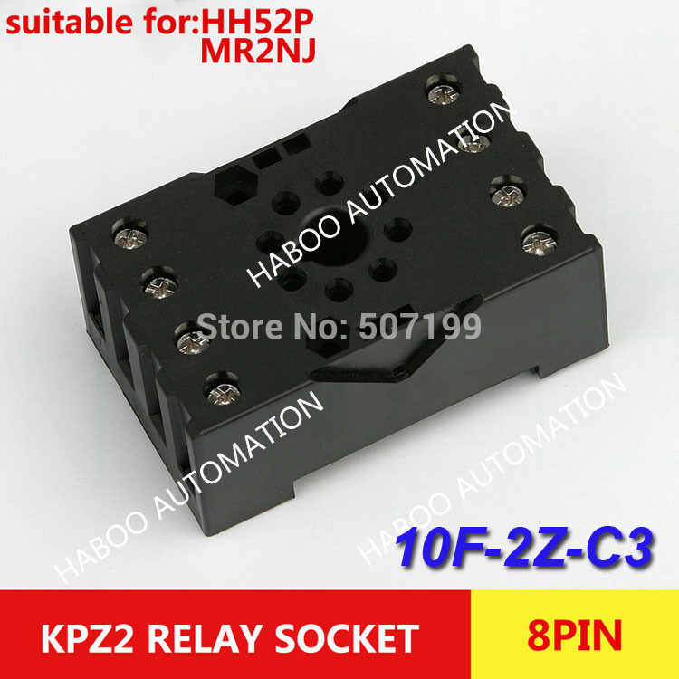 HABOO sereis 10pcs/lot socket 10F-2Z-C3 8pin socket for HH54P & MY4NJ relay PF-083BE electrical relay sockets(China (Mainland))