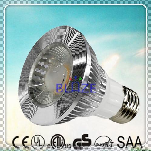 Discount 200pcs/L ETL 7W COB Led PAR20 E26 E27 Light Bulbs Warm Cold White 2700K 3000K 4000K 6000K Replace 60W Halogen PAR lamp(China (Mainland))