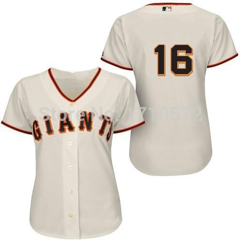 2015 New SF Womens San Francisco Giants 16 Angel Pagan Ivory Polyester Stitched Logos Cool Base Baseball Jerseys/Shirts Athletic(China (Mainland))