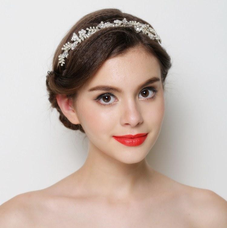 Pearl Crystal Gold Wedding Headband Hair Accessories Bridal Headwear Hair Jewelry Rhinestone Hairband Headpiece 2014 WIGO0316(China (Mainland))