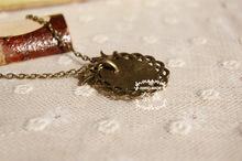2015 colar Original zakka style butterfly mushrooms necklaces pendants for women handmade jewelry accessories