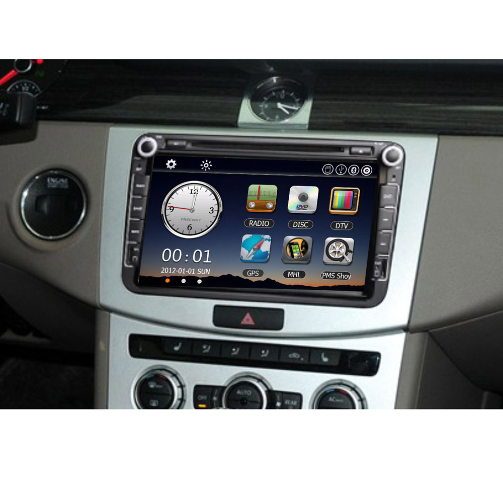 "Автомобильный DVD плеер Brand new 7"" 1080P HD DVD GPS Bluetooth 2 Din VW + +"