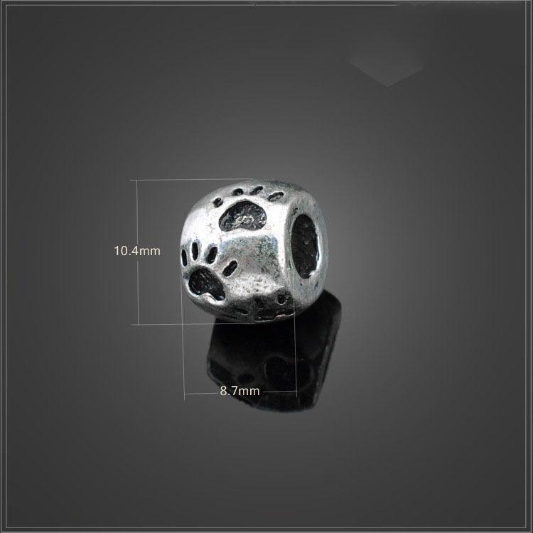 Aliexpress Hot Sell Europe Style Bear Claw Beads 1Pc Silver Bead Charm Alloy Bead Fit Pandora BIAGI Bracelets & Bangles YBD46(China (Mainland))